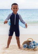 JUJA - UV Zwempak voor baby's - lange mouwen - Stripy - Donkerblauw
