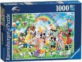 Ravensburger puzzel Disney Mickey Mouse. Mickey is jarig - Legpuzzel - 1000 stukjes