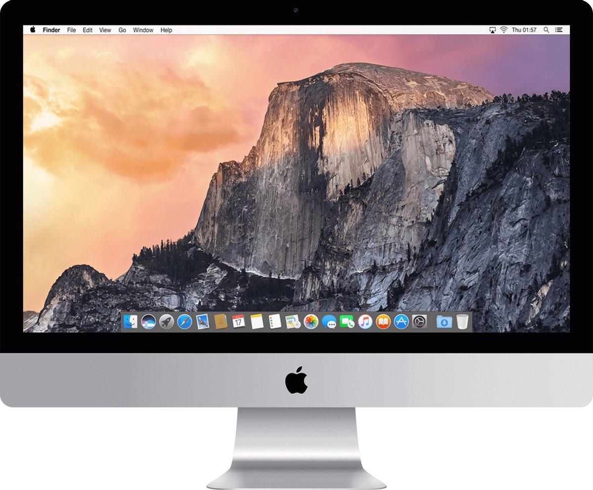 Apple iMac 27 inch Refurbished – Quad Core i5 3.3 Ghz – 8GB – 1TB HDD – Midden 2015 – B-grade