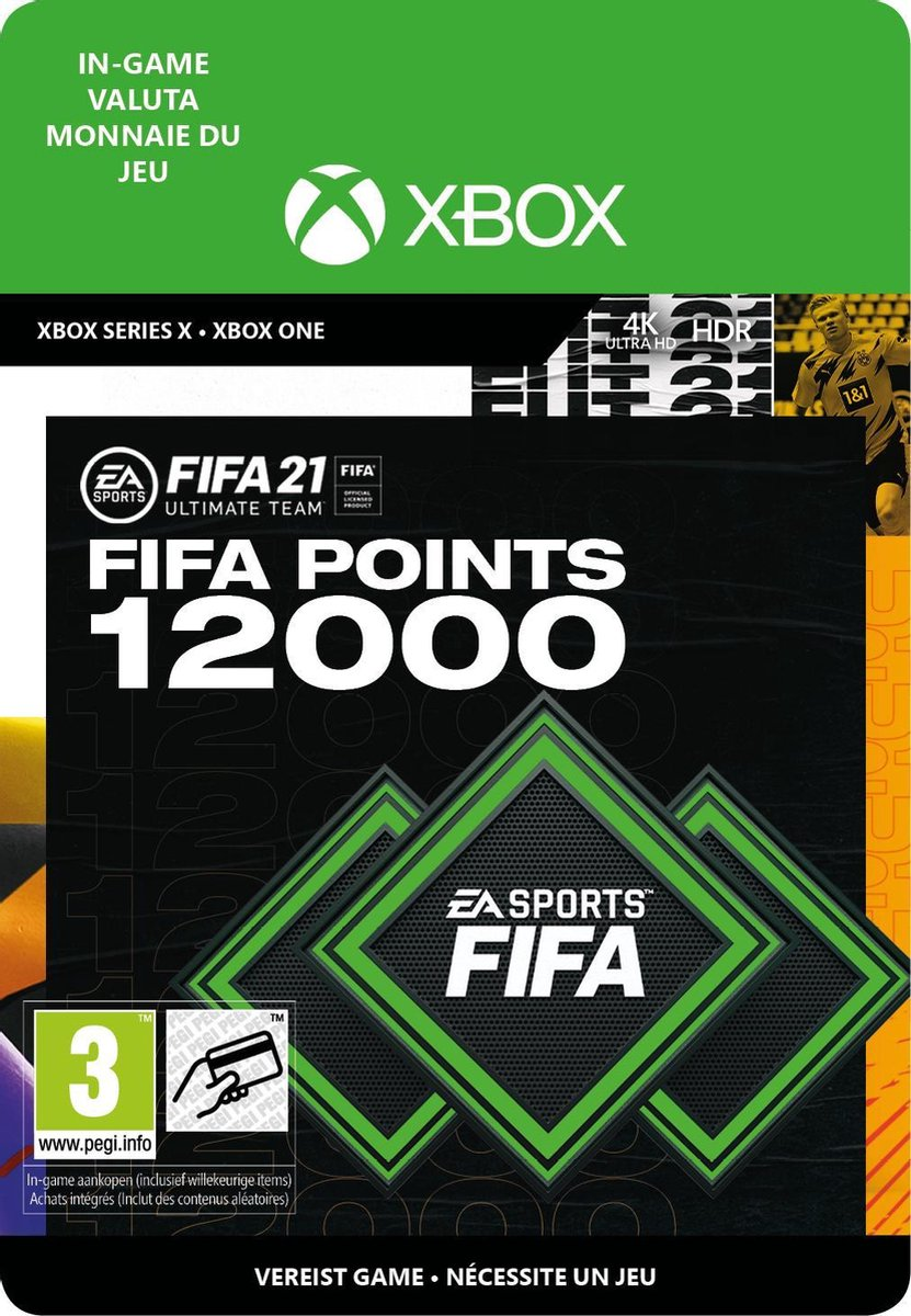 12.000 FUT Punten - FIFA 21 Ultimate Team - In-Game tegoed   Xbox One/Series Download - NL