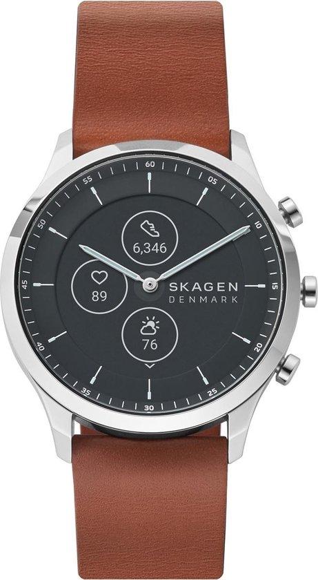 Skagen Hybrid HR SKT3000 - Smartwatch heren - 42 mm - Bruin
