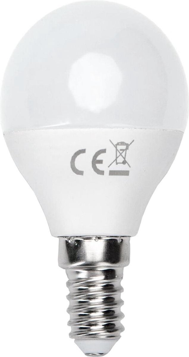 LED Lamp - Smart LED - Aigi Kiyona - Bulb G45 - 7W - E14 Fitting - Slimme LED - Wifi LED - Aanpasbare Kleur - Mat Wit - Glas - BSE