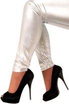 Zilveren legging l/xl