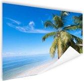 Palmbomenfoto strand Poster 150x75 cm - Foto print op Poster (wanddecoratie woonkamer / slaapkamer) / Zee en Strand