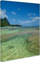 Kauai Oceanie  Canvas 60x80 cm - Foto print op Canvas schilderij (Wanddecoratie woonkamer / slaapkamer) / Zee en Strand