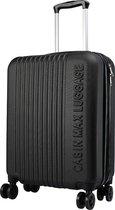 CabinMax Velocity Handbagage Koffer - Uitbreidbaar Trolley 44L - Harde Reiskoffer - 55x40x20/25 cm - Lichtgewicht - Groot Capaciteit - Zwart
