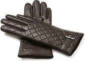 NapoELEGANT Echt lederen touchscreen handschoenen | Bruin | maat M