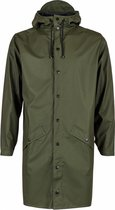 Rains Long Jacket Regenjas Unisex - Maat M - Green