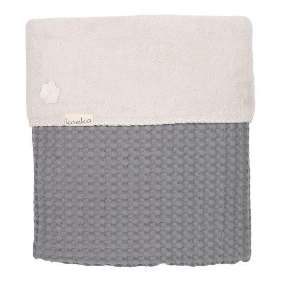 Koeka - Dekentje Oslo 100x75 cm - Silver Grey/White