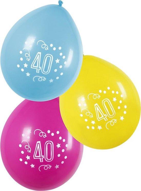 Boland Ballonnen 40 Jaar 25 Cm 6 Stuks