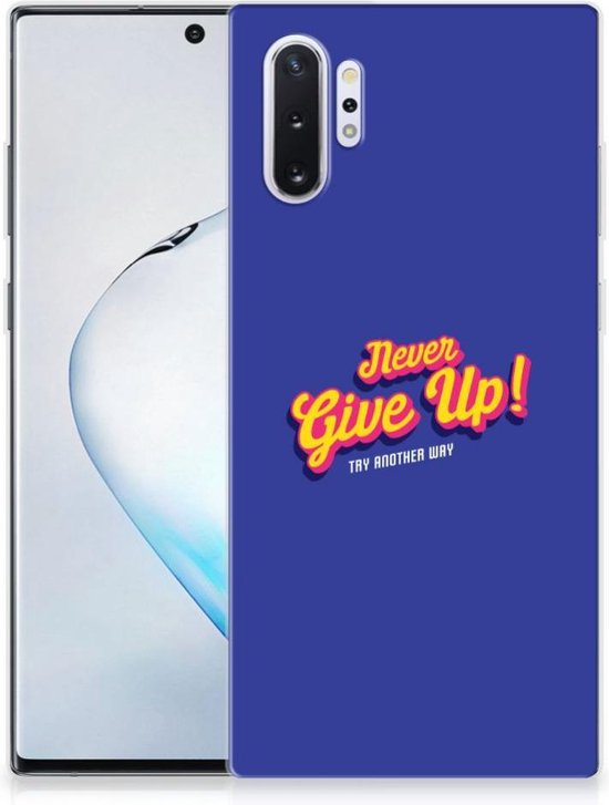 Samsung Galaxy Note 10 Plus Back cover met naam Never Give Up