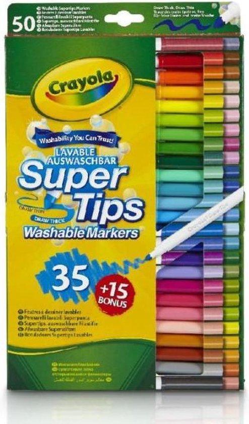 Crayola 50 Viltstiften met superpunt - Crayola