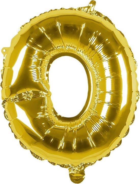 Boland Folieballon Letter O 36 Cm Goud