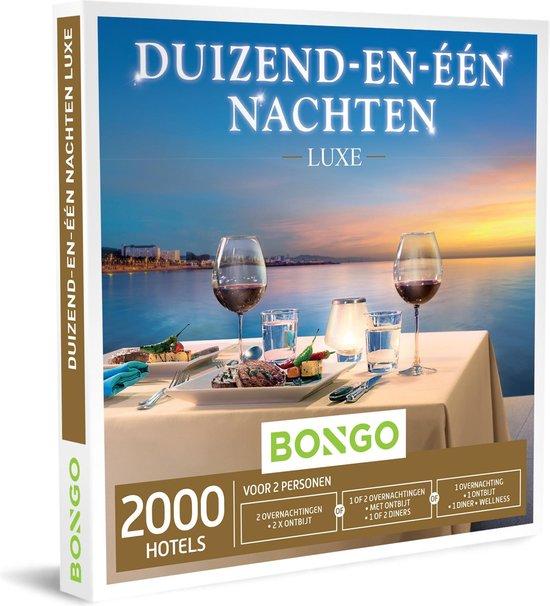 Bongo Bon Nederland - Duizend-en-één Nachten Luxe Cadeaubon - Cadeaukaart cadeau voor koppels   2000 luxueuze hotels
