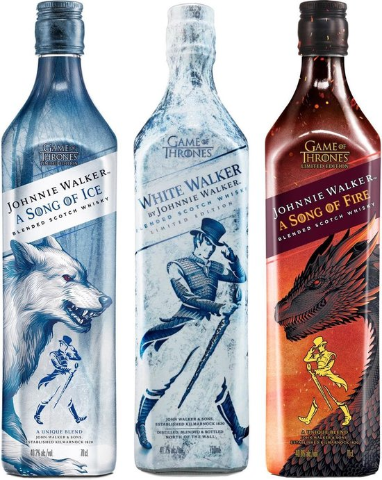 Johnnie Walker - A Song of Ice, Fire & White Walker bundle