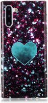 Let op type!! Voor Galaxy Note 10 gekleurde tekening patroon IMD vakmanschap zachte TPU beschermende case (groene liefde)