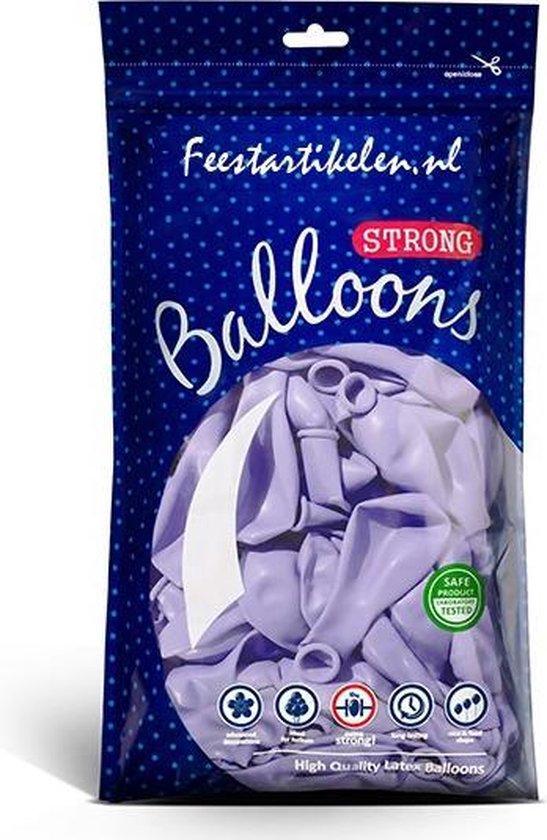 Ballonnen pastel lila 100 stuks