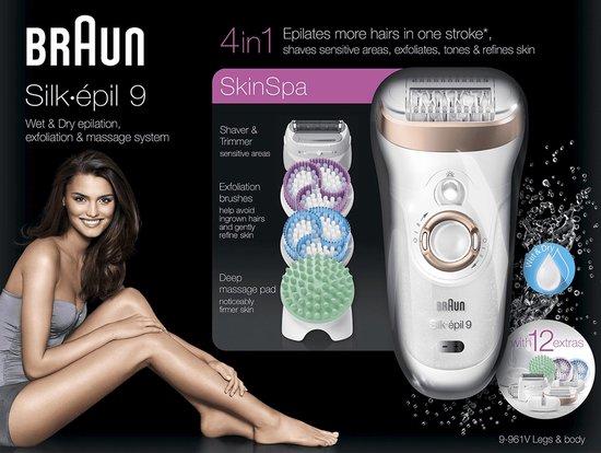 Braun Silk-épil 9 9-961v SkinSpa - Epileerapparaat