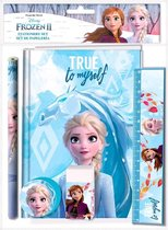 Disney Schrijfset Frozen 25 X 19 Cm Blauw 5-delig