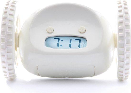 Clocky - Alarm Klok op Wielen - Wit
