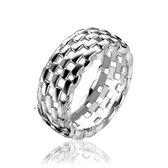 ZINZI zilveren ring schakel glad ZIR1103