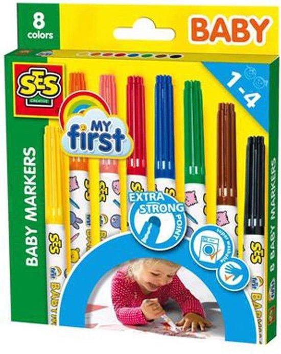 My First - Baby markers 8 kleuren