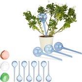 relaxdays 12 x waterdruppelaar - set 12 stuks - watergeefsysteem – plantbewateringssysteem
