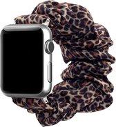Apple Watch 44MM / 42MM Bandje Elastische Scrunchie Panter Print