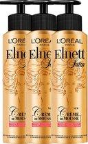 L'Oréal Paris Elnett Crème de Mousse Volume - 3 x 200 ml - Voordeelverpakking