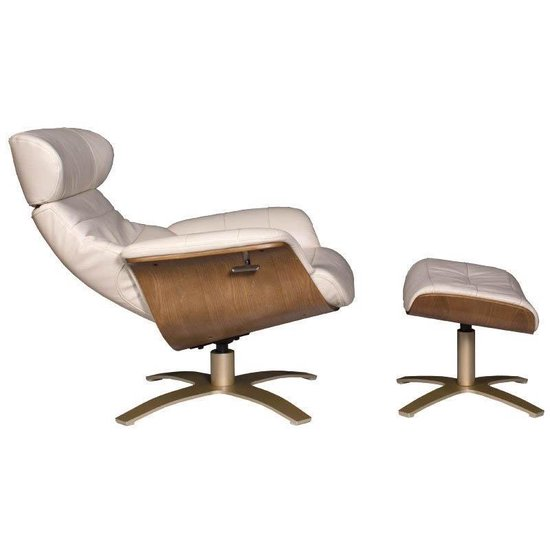 Relax Fauteuil Creme Leer.Bol Com Relaxfauteuil Calla Creme Leer 82 Cm Breed