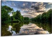 Canvas schilderij Natuur | Groen, Grijs, Wit | 140x90cm 1Luik