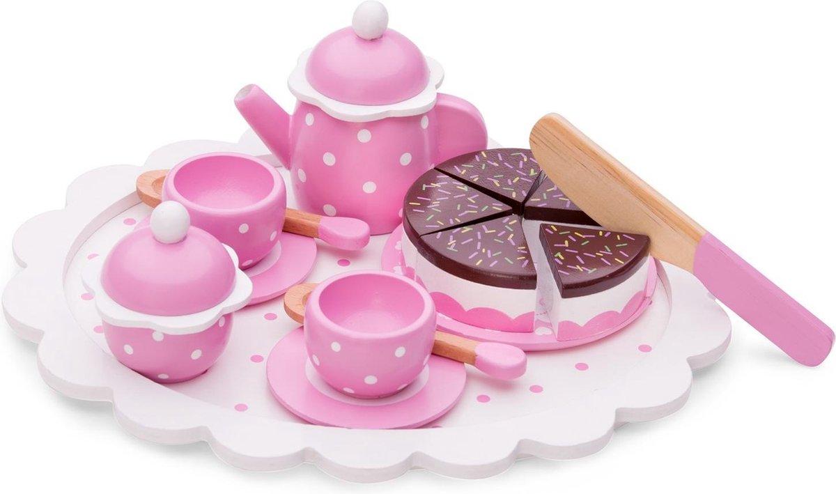 New Classic Toys - Speelgoedtheeservies - Roze