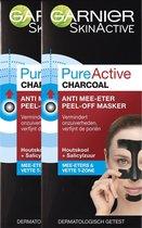 Garnier Skinactive Face Pure Active Peel-off Anti Mee-eter Masker Charcoal -...