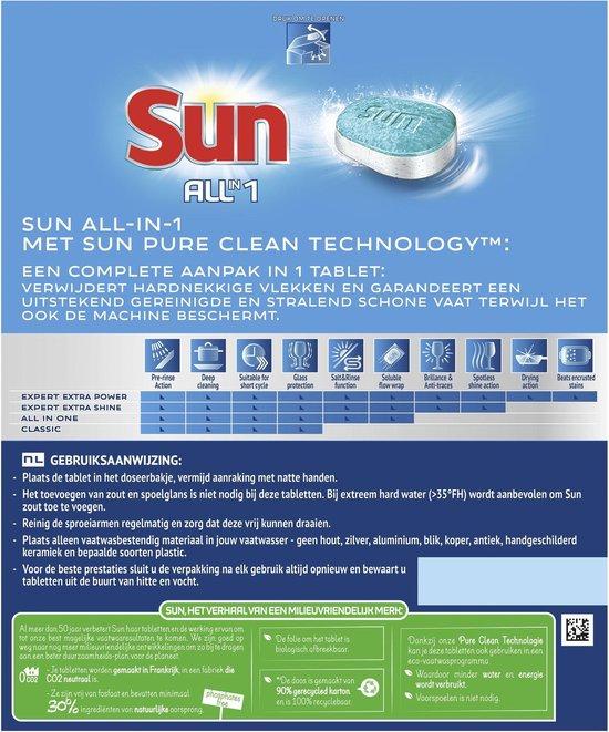 Sun All-in-1 Vaatwastabletten Normaal - 62 tabletten