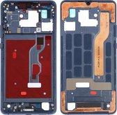 Middenkaderring met zijtoetsen voor Huawei Mate 20 X (blauw)