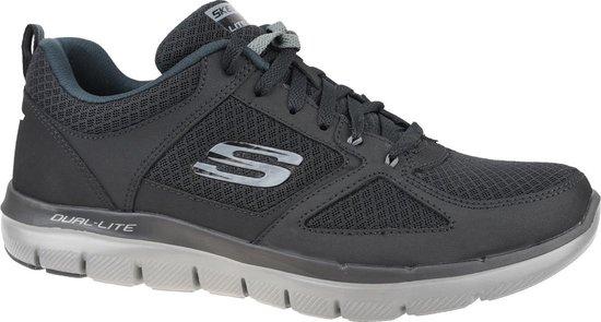 Skechers Flex Advantage 2.0 - Lindman Sneaker Heren Sneakers - Maat 45 - Mannen - zwart/grijs