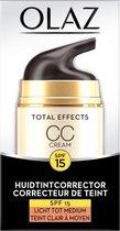 Olaz Total Effects 7in1 CC Cream SPF15 Licht Tot Medium - 50ml - Dagcrème