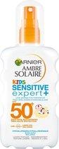 Garnier Ambre Solaire Kids Zonnebrandspray SPF 50+ - Zonnebrand voor de kinderhuid - 200 ml
