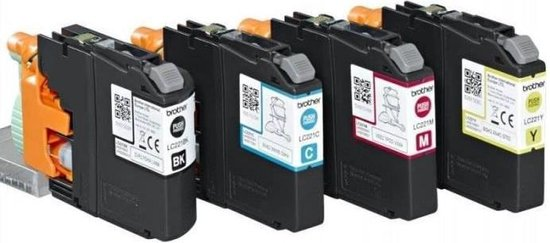 Brother LC-221BKCMY - Inktcartridge / Zwart / Geel / Magenta / Cyaan - Brother