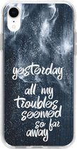 Design Backcover iPhone Xr hoesje - Yesterday