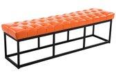 Clp Zitbank AMUN - bekleed en benopt, kunstleer - oranje, breedte 150 cm