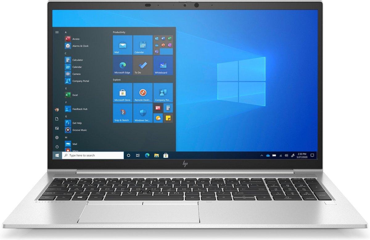 "HP EliteBook 850 G8 DDR4-SDRAM Notebook 39,6 cm (15.6"") 1920 x 1080 Pixels Intel® 11de generatie Core™ i5 8 GB 256 GB SSD Wi-Fi 6 (802.11ax) Windows 10 Pro Zilver"