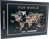 Puzzel van de Wereld   1000 stukjes   68x48 cm   Familiepuzzel   Jigsaw   Legpuzzel   Maison Maps