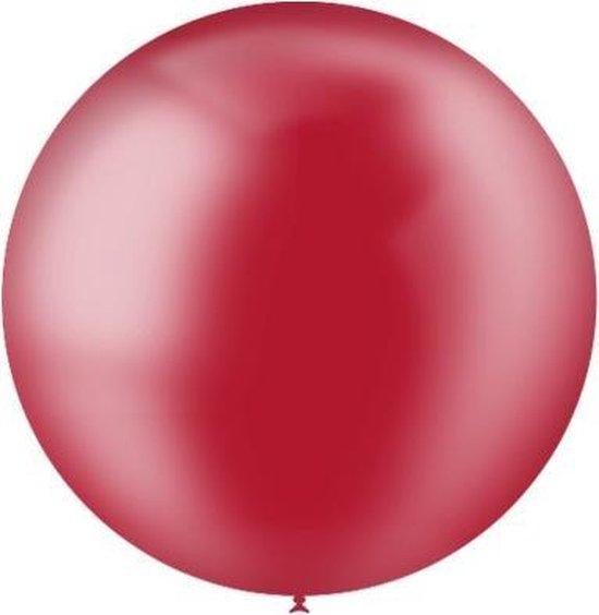 Rode Reuze Ballon Doorzichtig 60cm