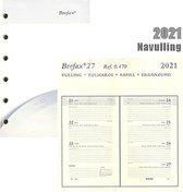 Brepols Agenda 2021 • Brefax 27 • 7 dagen / 2 pagina's • compatibel met Succes © en Filofax ©• 8 x 12,5 cm • Vulling