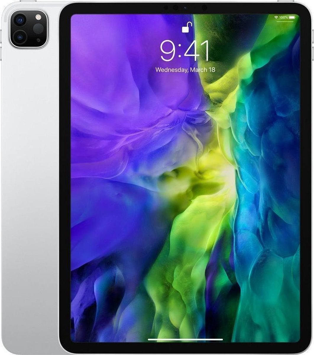 Apple iPad Pro (2020) refurbished door Adognicosto - A Grade (zo goed als nieuw) - 11 inch - WiFi - 128GB - Zilver