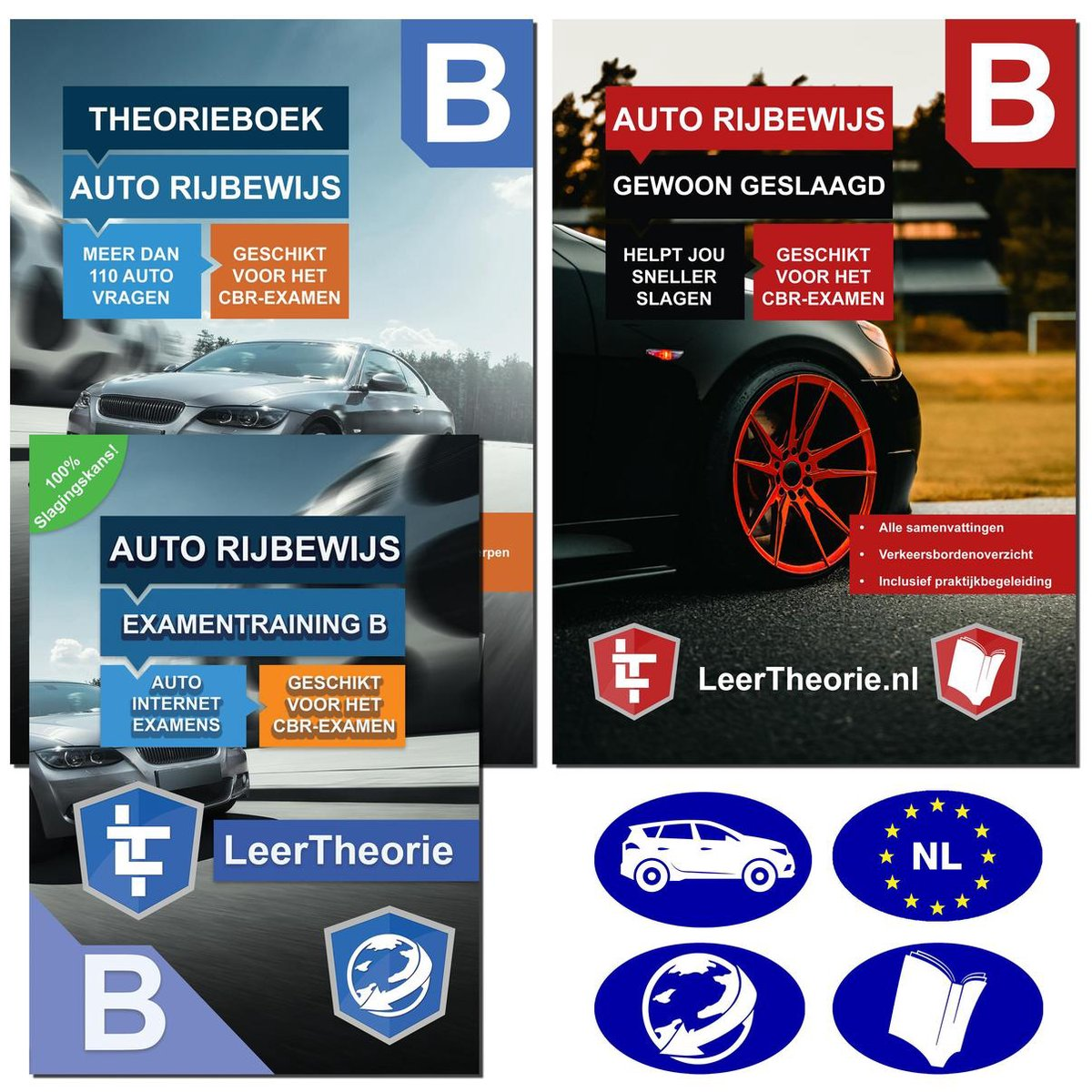 AutoTheorieboek 2021 Rijbewijs B + Online Oefenen voor Theorie-examen 2021 met Auto Theorieboek en S