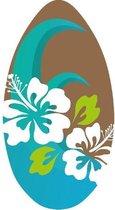 Skimboard Flower bruin/blauw