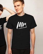 Mr & Mrs T-Shirt (Mr - Maat XL)