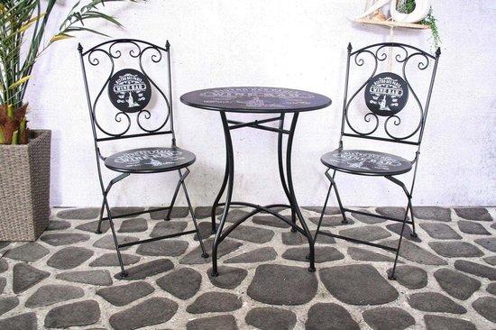 Sensline Paris bistro set black (2 chairs + 1 table)